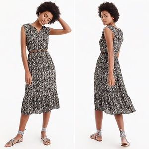 NWT J.Crew Mercantile Floral Cap-Sleeve Midi Dress